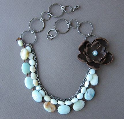 Waterleathernecklace