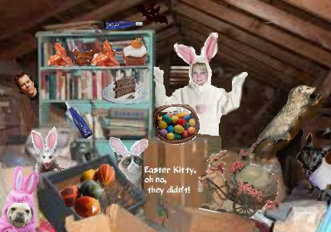 Easter in the attic